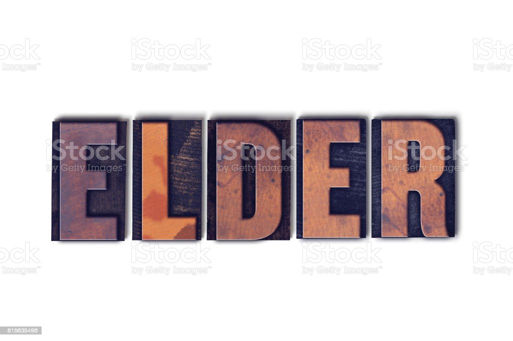 Elder Concept Isolated Letterpress Word stock photo