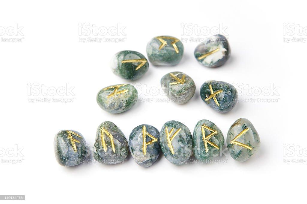 Elder Futhark Runes stock photo