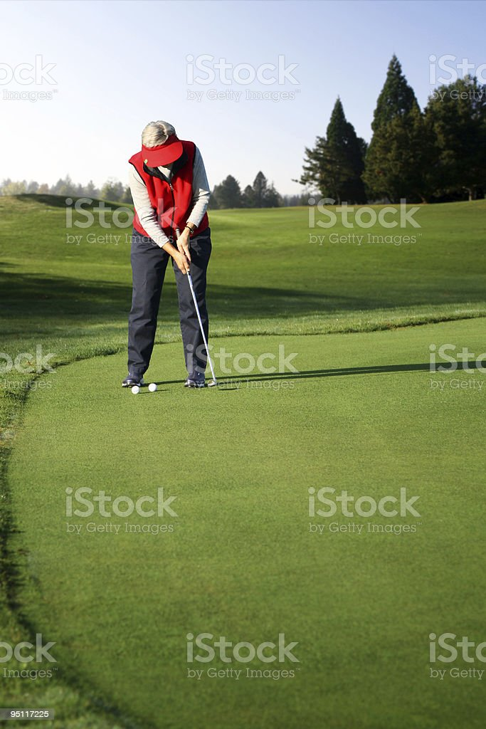 Elder Golfer royalty-free stock photo