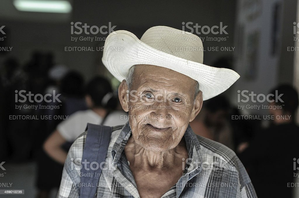 Elder man in clinic royalty-free stock photo