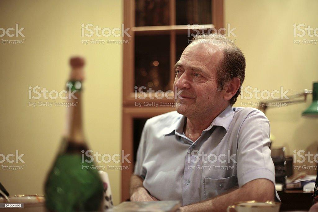 Elder man portrait royalty-free stock photo