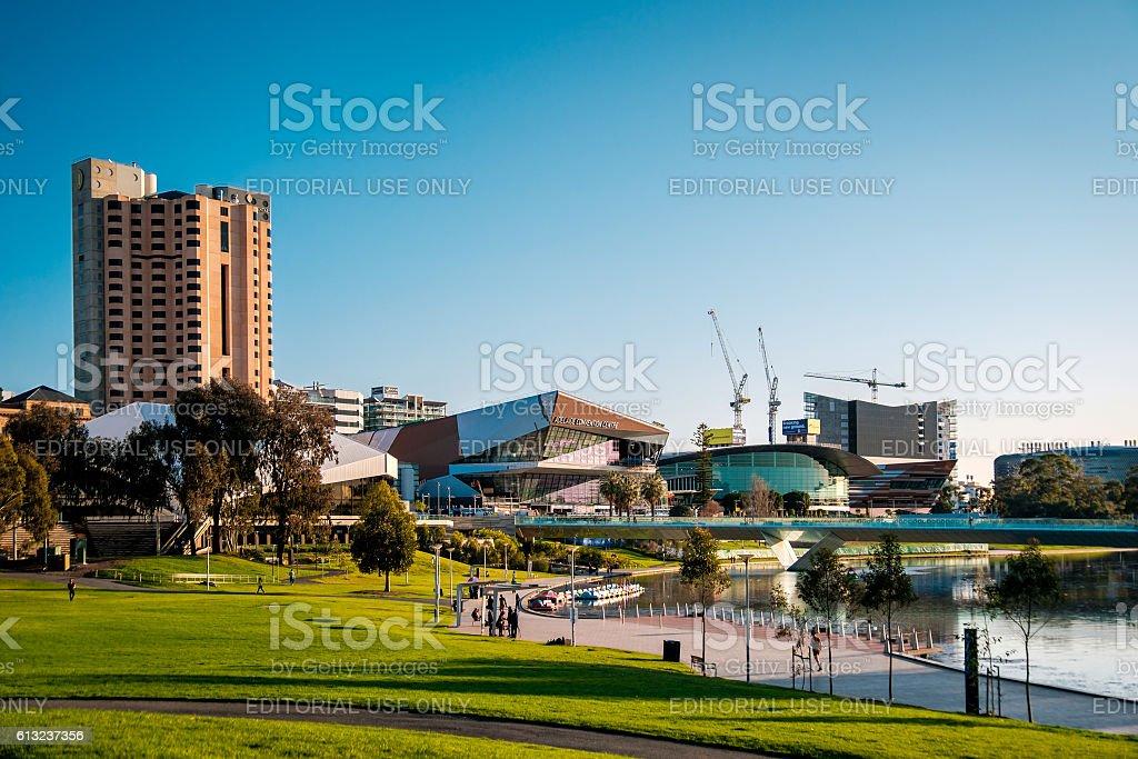 Elder Park, Adelaide City stock photo