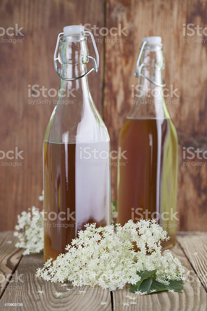 Elderberry syrup royalty-free stock photo