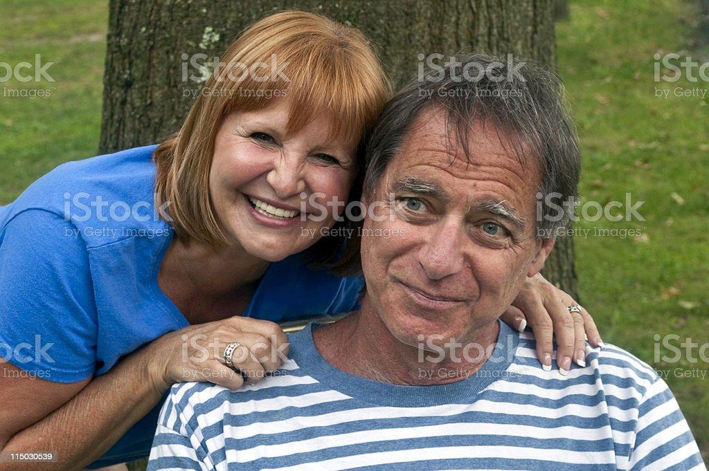 Elderly Affectionate Couple Portrait stock photo