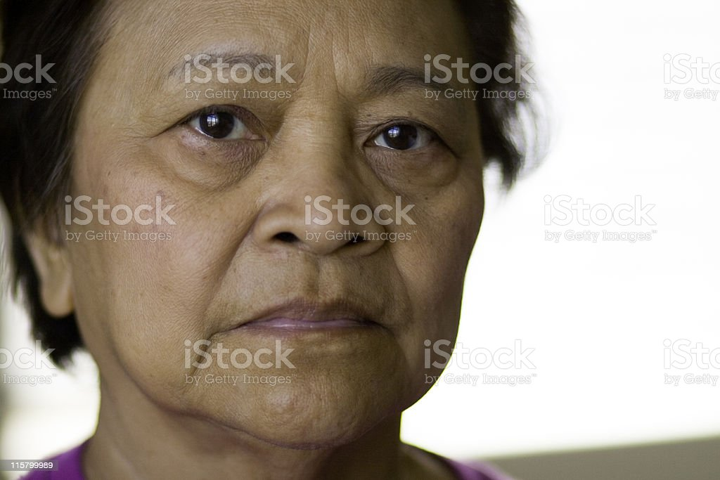 Elderly Asian Woman royalty-free stock photo