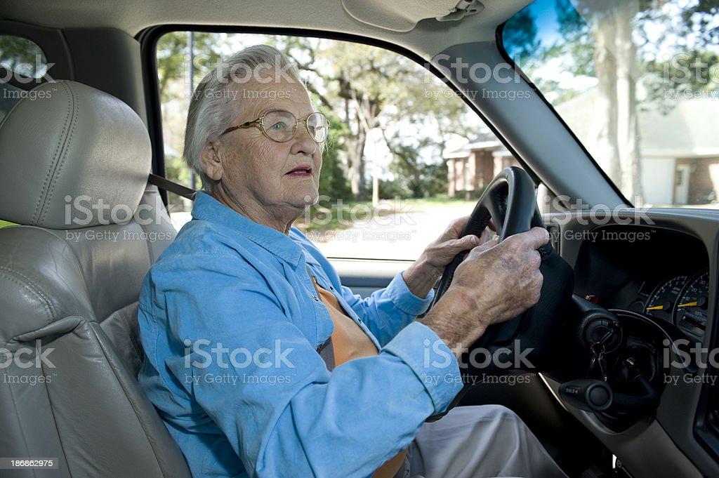 Elderly Automobile Driver royalty-free stock photo