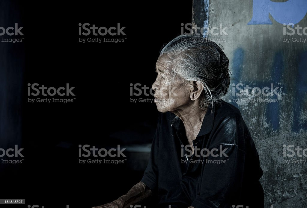 Elderly Balinese Woman stock photo