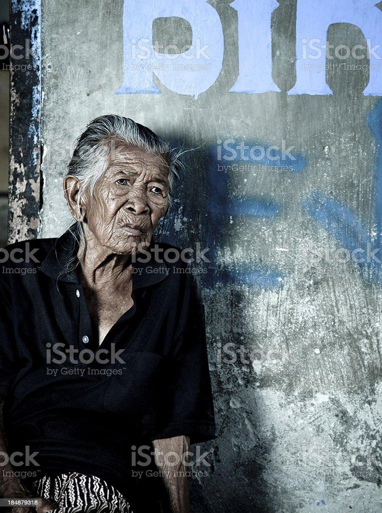 Elderly Balinese Woman royalty-free stock photo