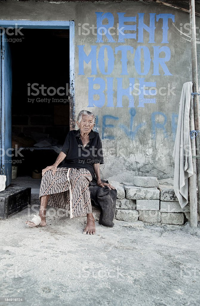 Elderly Balinese Woman royalty-free stock photo