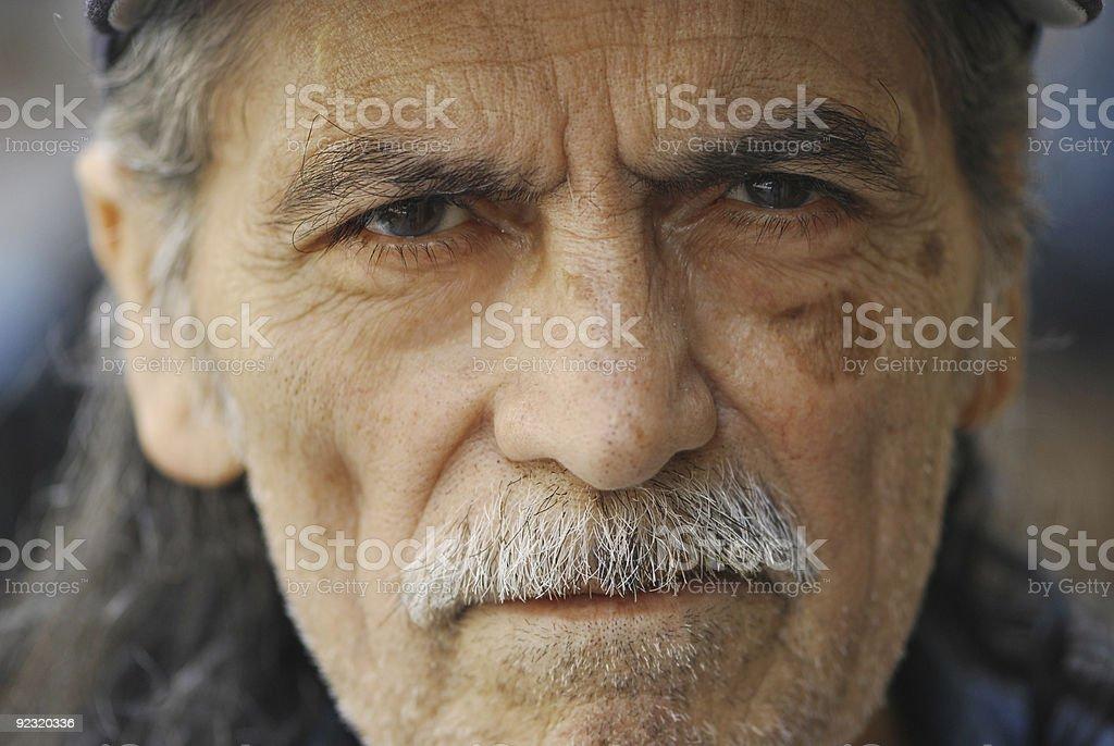 Elderly Blue Collar Worker stock photo