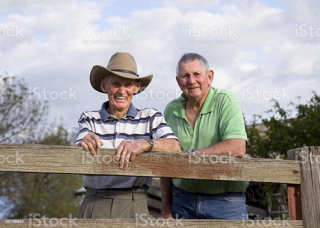 Elderly Brothers royalty-free stock photo