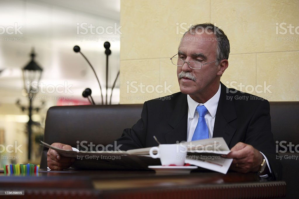 Elderly businessman royalty-free stock photo