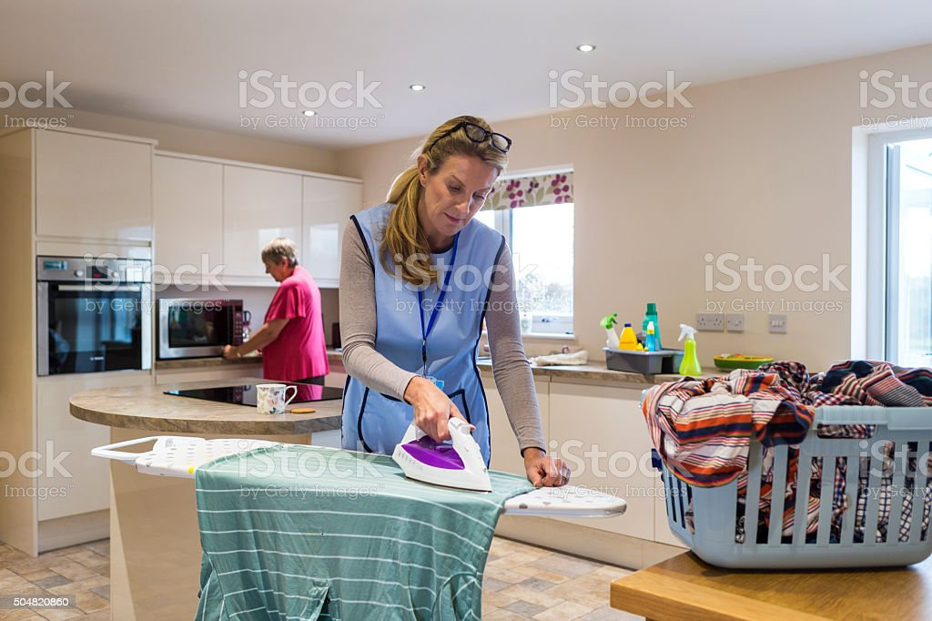 Elderly Care in the Home stock photo