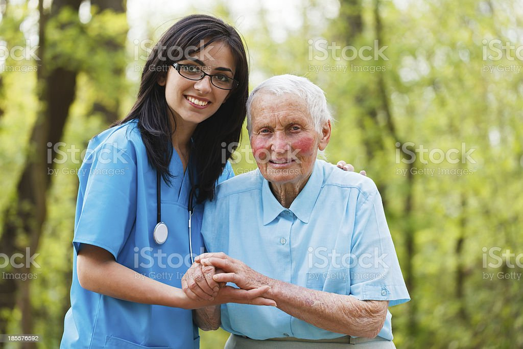 Elderly Care royalty-free stock photo