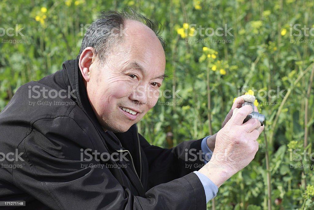 Elderly Chinese photographers royalty-free stock photo