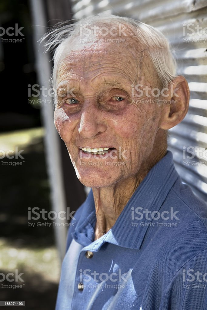 Elderly Country Man stock photo