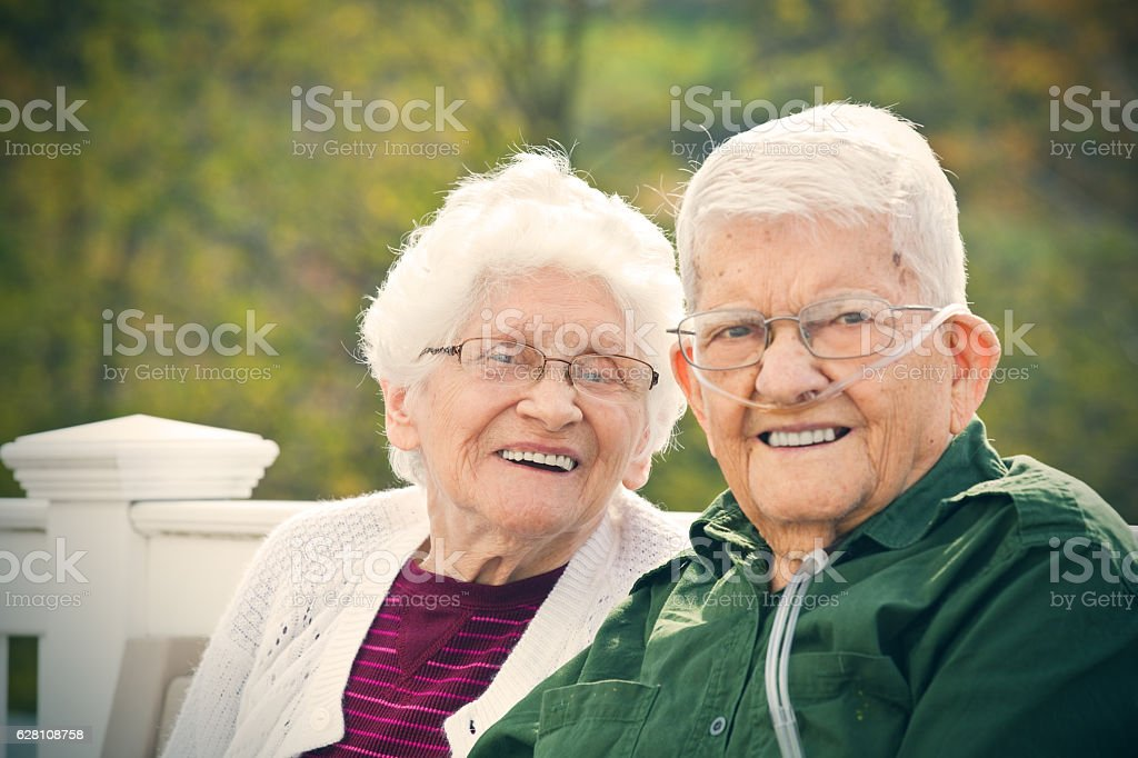 Elderly Couple Happy Together stock photo