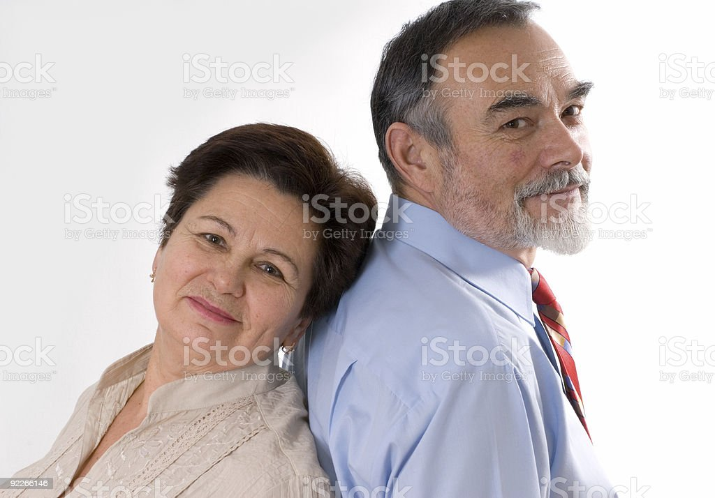 elderly couple royalty-free stock photo