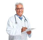 Elderly doctor.