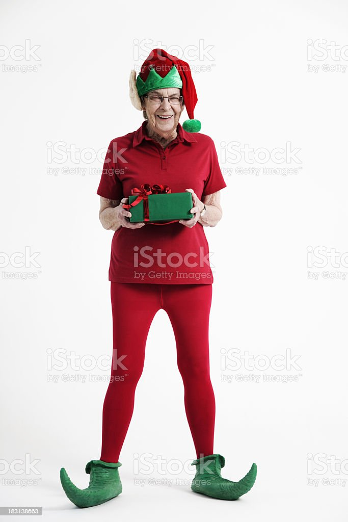 Elderly Elf stock photo
