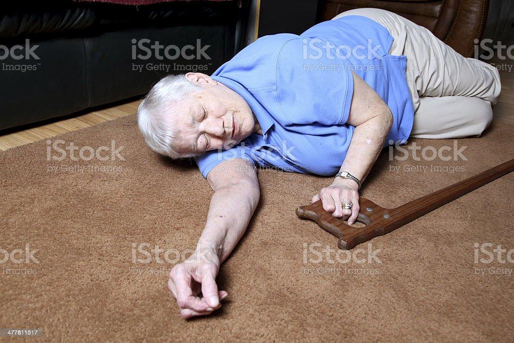 Elderly Fall royalty-free stock photo