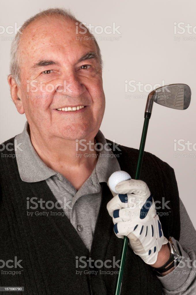Elderly golfer royalty-free stock photo