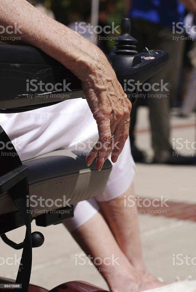 Elderly Hand stock photo