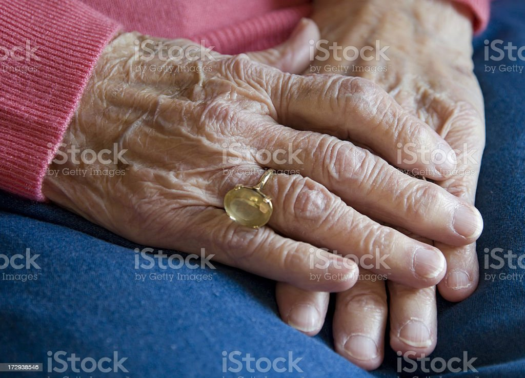 Elderly Hands royalty-free stock photo