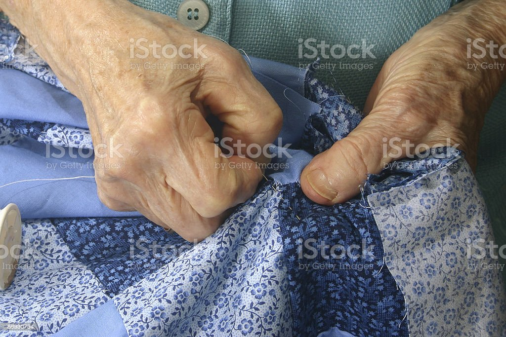 Elderly Hands royalty-free stock photo