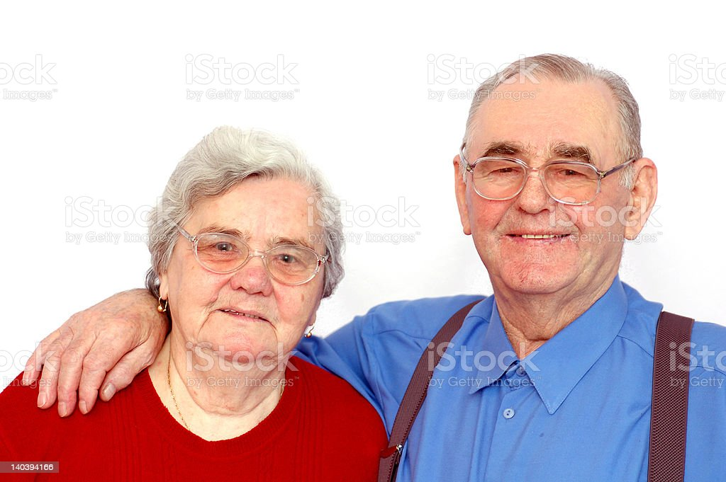 Elderly happy couple royalty-free stock photo