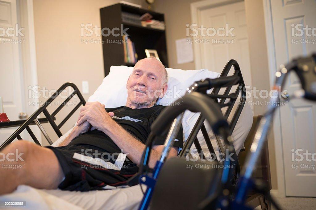 Elderly Hospice Patient stock photo