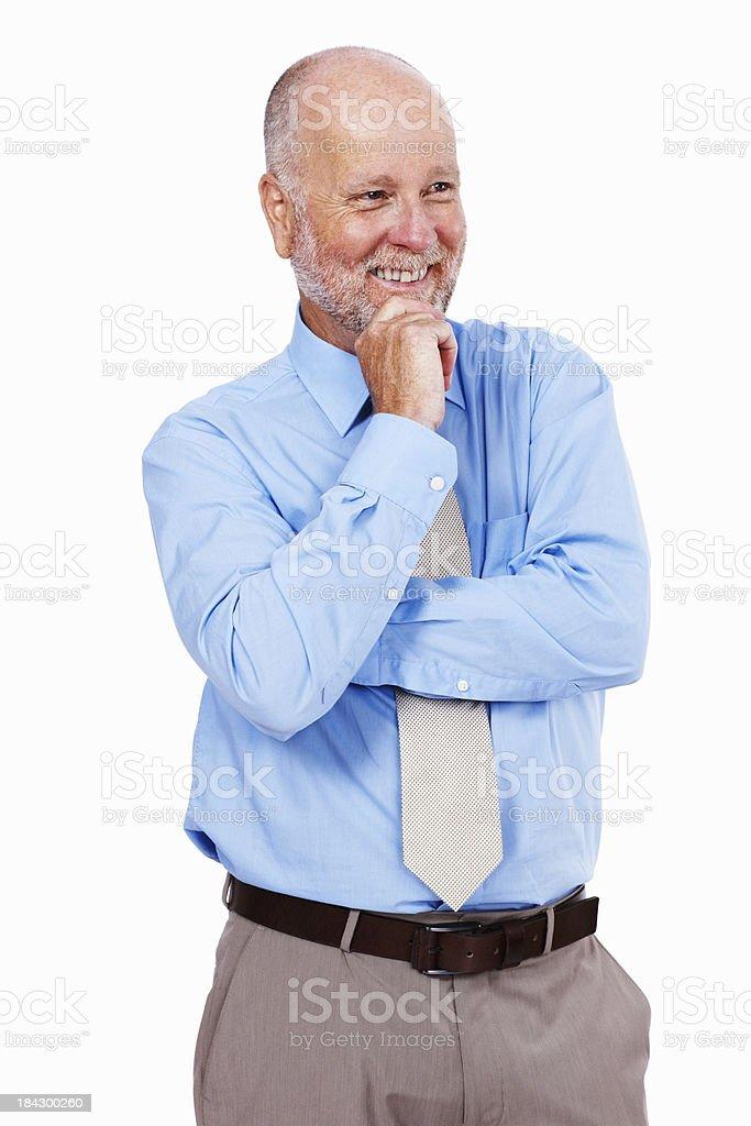 Elderly male executive smiling royalty-free stock photo