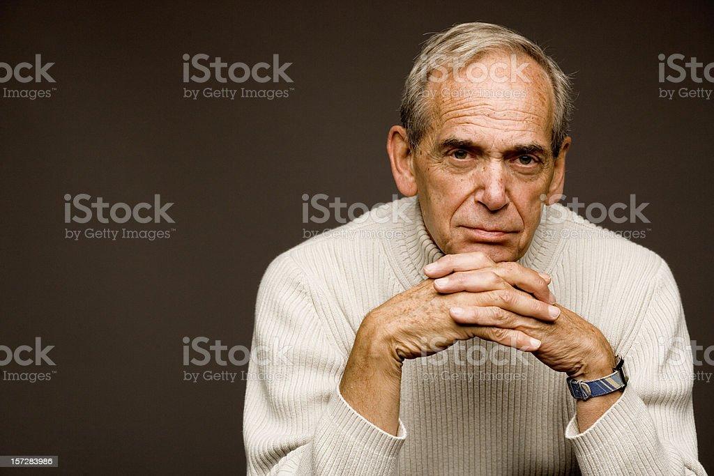 Elderly Male Portrait stock photo