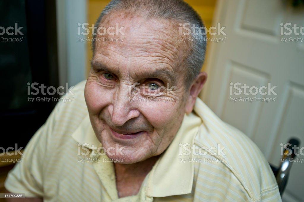 Elderly Man In Nursing Home (XL) royalty-free stock photo