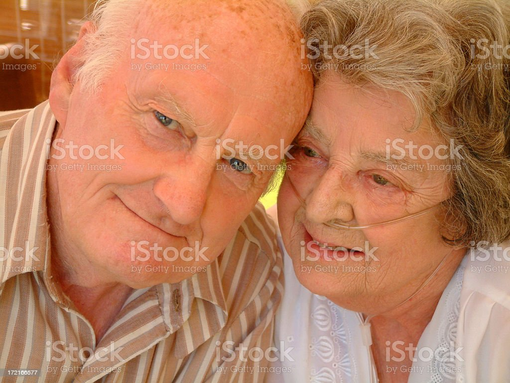 Elderly Married Couple royalty-free stock photo