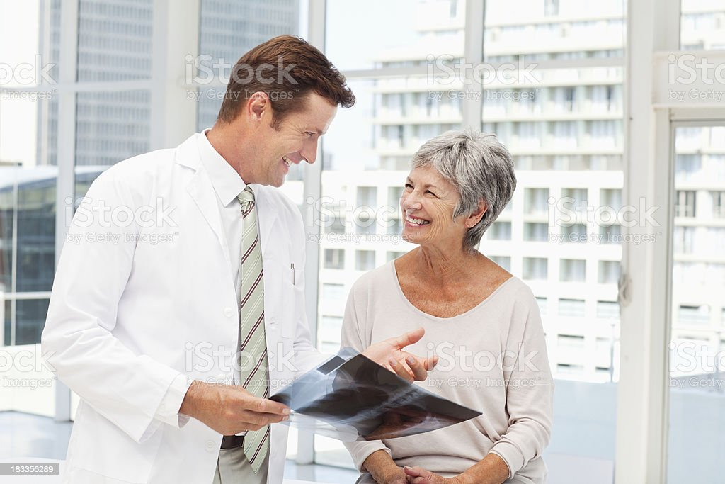 Elderly Patient Getting Her X-Ray Results royalty-free stock photo