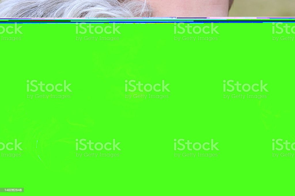Elderly person and grandson royalty-free stock photo
