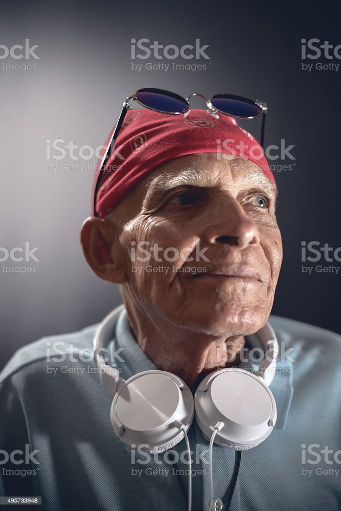 Elderly Rock And Roll stock photo