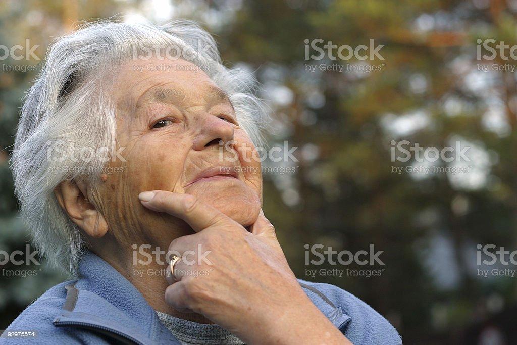 Elderly smiling royalty-free stock photo