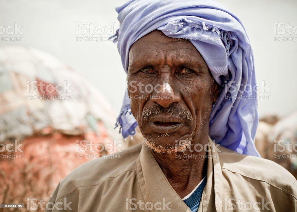 Elderly Somali Man stock photo