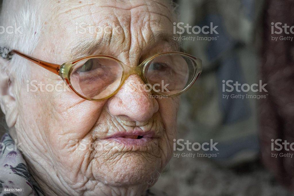 Elderly woman. Care elderly stock photo