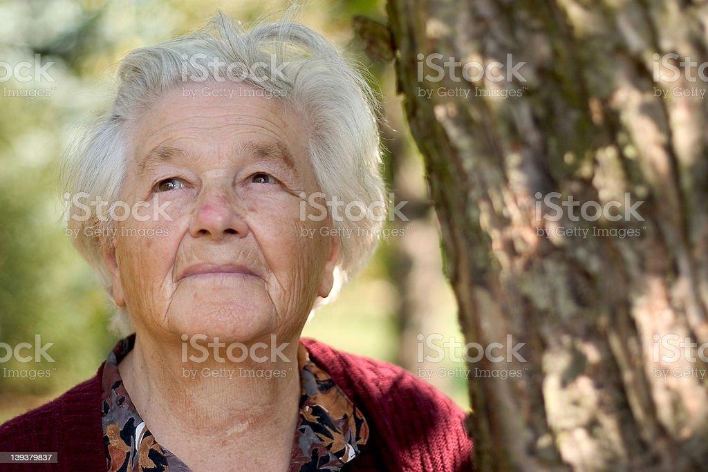 elderly woman I royalty-free stock photo