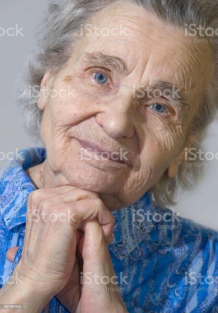 elderly woman (serie) royalty-free stock photo