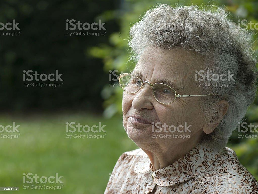 elderly woman royalty-free stock photo