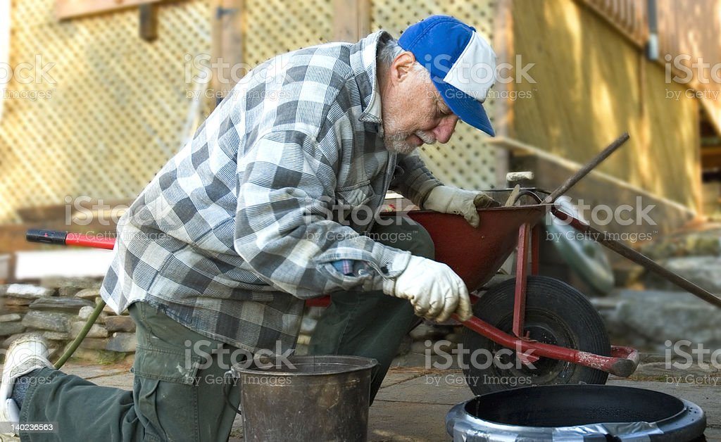 elderly worker royalty-free stock photo