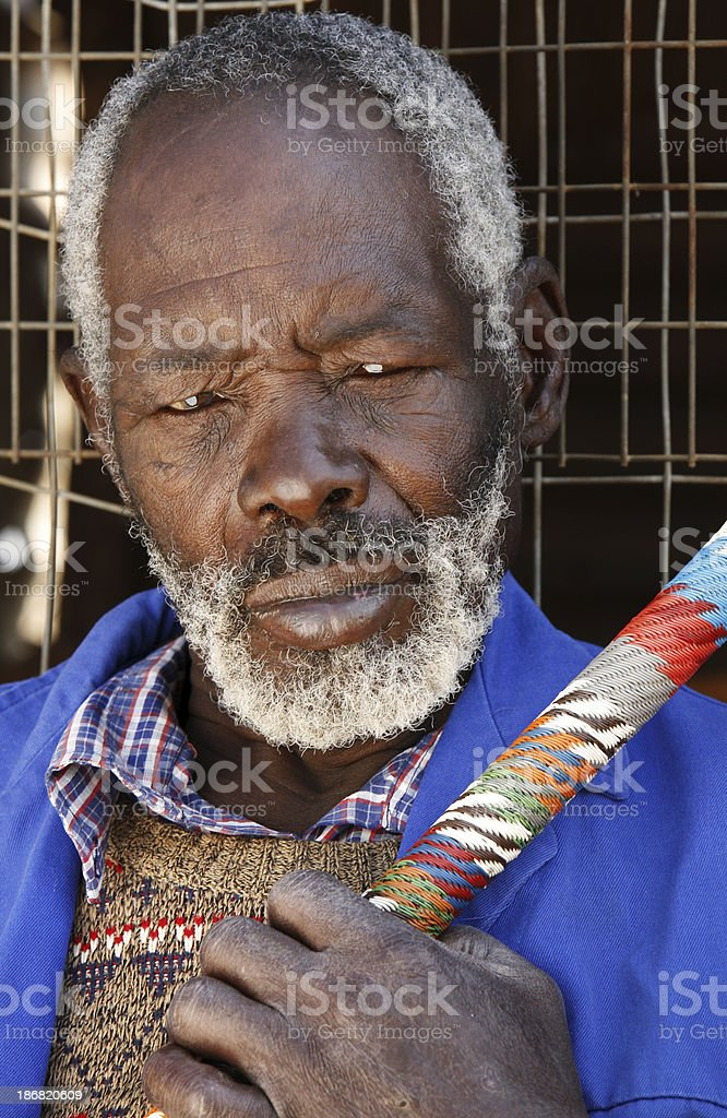Elderly Zulu man South Africa royalty-free stock photo
