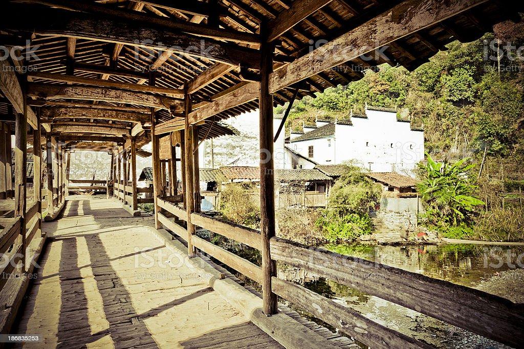 Elder's Covered Bridge stock photo