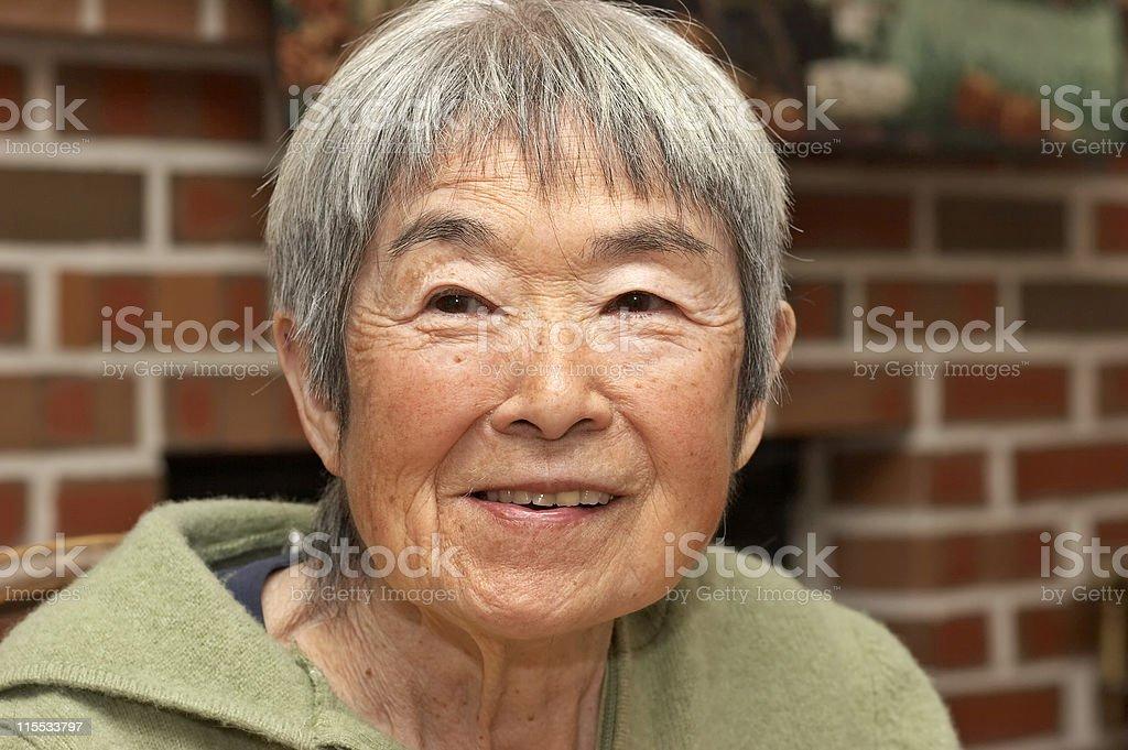 Eldery Japanese Woman royalty-free stock photo