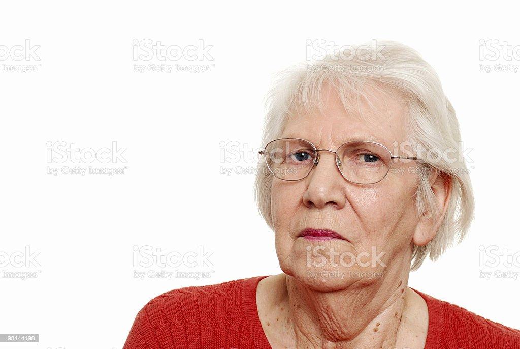 Eldery woman wearing glasses royalty-free stock photo