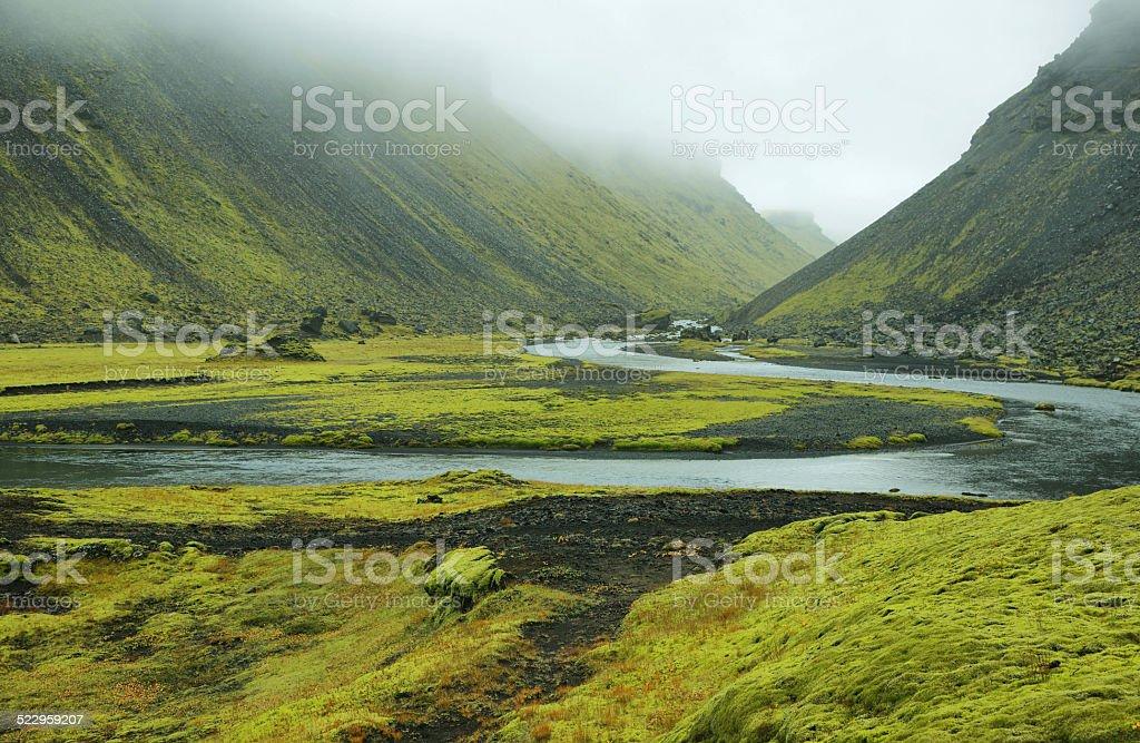 Eldgja canyon, Iceland stock photo